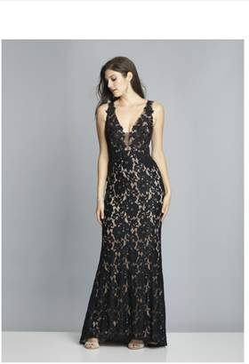 Dave and Johnny Unique Lace Gown
