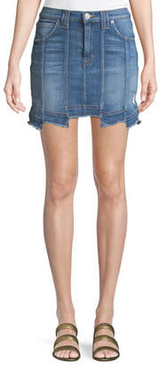 Hudson Weekender Step-Hem Denim Skirt