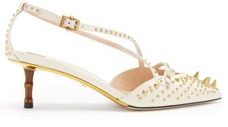 Gucci Unia studded leather pumps