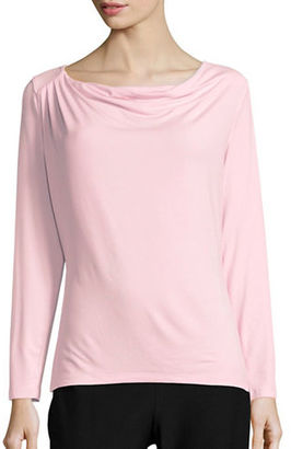 Lord & Taylor Iconic Fit Drape-Front Blouse $40 thestylecure.com