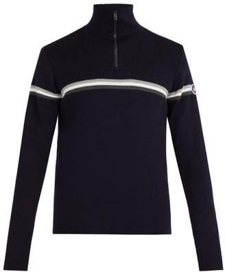 Fusalp - Wengen Iii Zip Up Wool Sweater - Mens - Navy