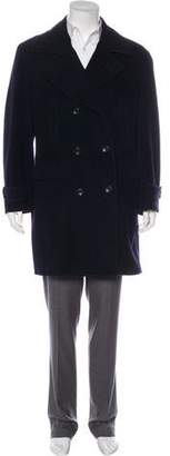Calvin Klein Collection Wool & Alpaca Double-Breasted Overcoat