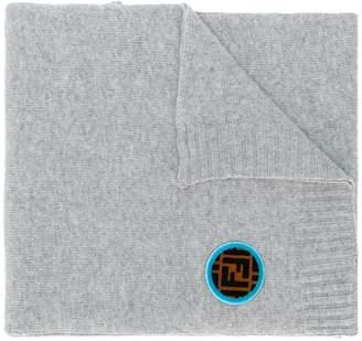 Fendi FF logo patch scarf