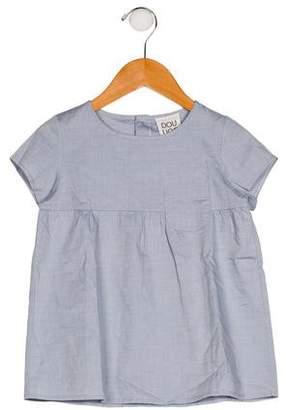 Douuod Girls' Short Sleeve Scoop Neck Top