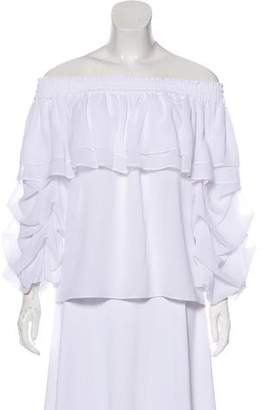 MISA Los Angeles Off-The-Shoulder Ruffled Blouse