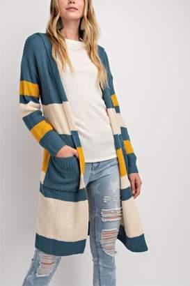 Easel Knit Color-Block Cardigan
