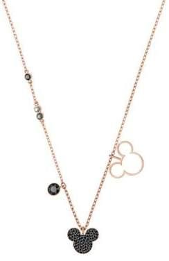 Swarovski Mickey & Minnie Rose-Goldplated Pendant Necklace