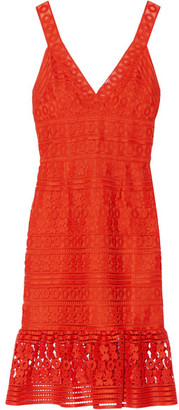 Diane von Furstenberg - Tiana Guipure Lace Dress - Bright orange $600 thestylecure.com