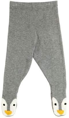 Stella McCartney Penguin Cotton & Wool Knit Leggings