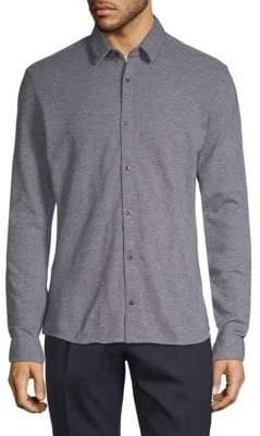 HUGO BOSS Ero3 Speckled Cotton Shirt
