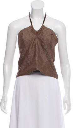 Brunello Cucinelli Metallic Halter Top