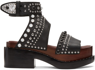 3.1 Phillip Lim Black Nashville Platform Sandals $795 thestylecure.com