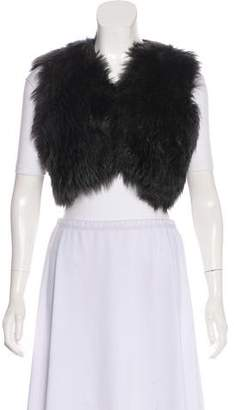 Ralph Lauren Black Label Fur Open Front Vest