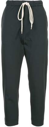 Bassike drawstring slim-fit trousers