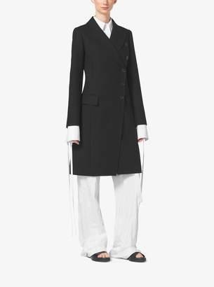 Michael Kors Asymmetrical Wool-Gabardine Reefer Coat