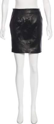 The Row Mini Leather Skirt
