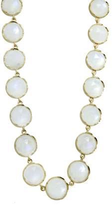 Irene Neuwirth Rose Cut Rainbow Moonstone Chain Necklace - 34 Inch
