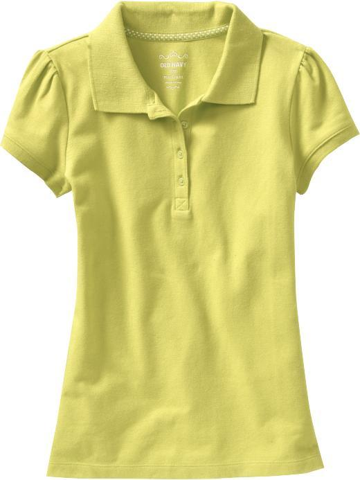 Old Navy Girls Uniform Pique Polos