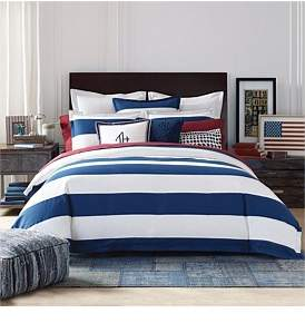 Tommy Hilfiger Cabana Stripe Quilt Cover Set Double Bed