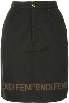 Fendi Pre-Owned logo short length skirt