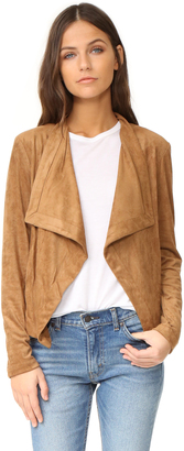 BB Dakota Nanette Drape Front Jacket $115 thestylecure.com