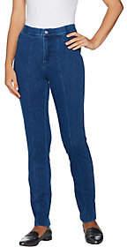 Isaac Mizrahi Live! Tall Knit Denim Slim LegJeans w/ Pocket