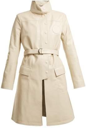 Chloé High-neck belted leather jacket