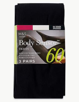 "Marks and Spencer 3 Pair Pack 60 Denier Body Sensorâ""¢ Tights"