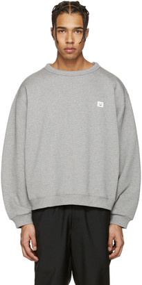 Acne Studios Grey Fint Face Sweatshirt $240 thestylecure.com