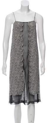 Diane von Furstenberg Semi-Sheer Floral Mini Dress