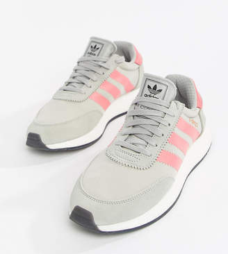adidas I-5923 Runner Sneakers In Gray And Pink