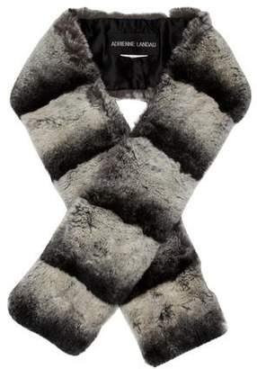 Adrienne Landau Grey Fur Stole