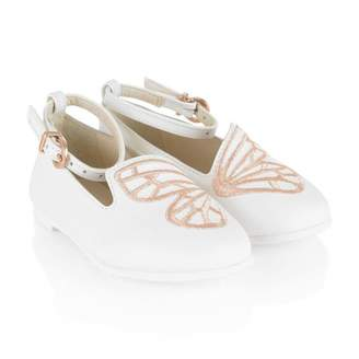 Sophia Webster MiniWhite Leather Butterfly Shoes