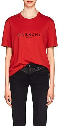 Givenchy Women's Logo Cotton Oversized T-Shirt - Red