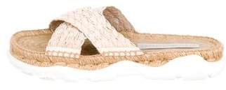 Stella McCartney Braided Jute Crossover Slide Sandals