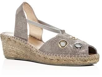 Andre Assous Delicate Metallic Slingback Espadrille Sandals $169 thestylecure.com