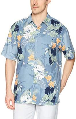 Cubavera Men's Big Tall Short-Sleeve All Over Tropical Shirt