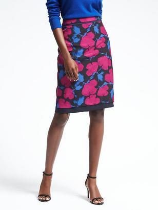 Floral Midi Pencil Skirt $88 thestylecure.com