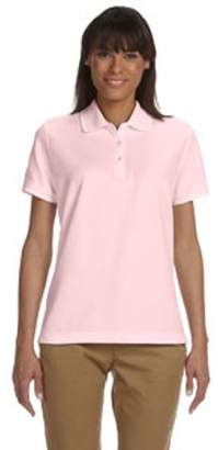Devon & Jones Ladies' Pima Pique Short-Sleeve Tipped Polo