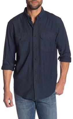 Hudson Jeans Chambray Long Sleeve Regular Fit Shirt