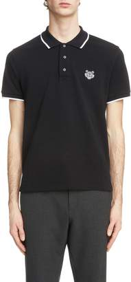 Kenzo Tiger Crest Tipped Pique Polo