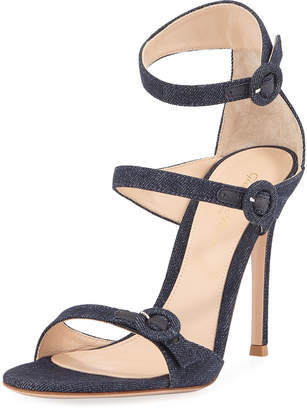 Gianvito Rossi 105mm Three-Strap Buckle Sandal