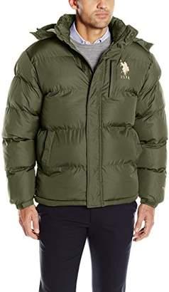 U.S. Polo Assn. Men's Classic Bubble Jacket with Polar Fleece Lining and Logo