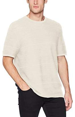 Calvin Klein Men's Short Sleeve T-Shirt Linen Textured Stripe