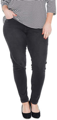 Levi's Plus 310 Shaping Super Skinny Jeans Washed Out Black