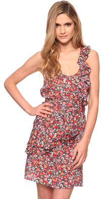 Love21 Cross Ruffle Floral Dress