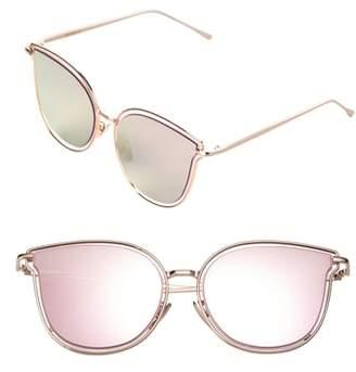 Cat Eye SunnySide LA 54mm Mirrored Sunglasses