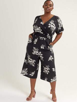 Printed Crossover Jumpsuit - In Every Story
