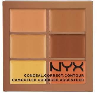 NYX (6 Pack Conceal, Correct, Contour Palette - Deep