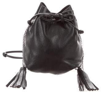 Miu Miu Leather Drawstring Bag